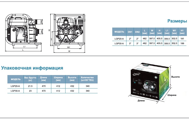 Габариты Мотопомпа бензиновая LEO LGP20(30)A.jpg