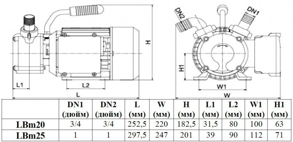 Установочные размеры насоса LEO LBM20.JPG